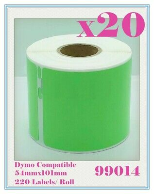 20 Compatible for Dymo/Seiko 99014 Green Label 54mm x 101mm Labelwriter450 Turbo