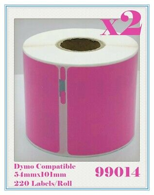 2 Compatible for Dymo/Seiko 99014 Pink Label 54mm x 101mm Labelwriter450Turbo