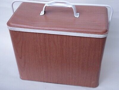 Retro Vintage Willow Portable Metal Esky Cooler Ice BoxWith Insert Tray