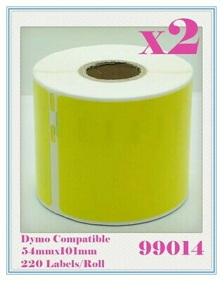 2 Compatible for Dymo/Seiko 99014 Yellow Label 54mm x 101mm Labelwriter450Turbo