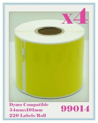 4 Compatible for Dymo/Seiko 99014 Yellow Label 54mm x 101mm Labelwriter450Turbo
