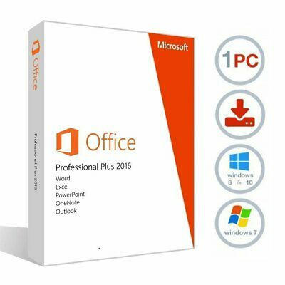 Microsoft Office Professional Plus 2016 - INSTANT DELIVERY - 1pc for Windows