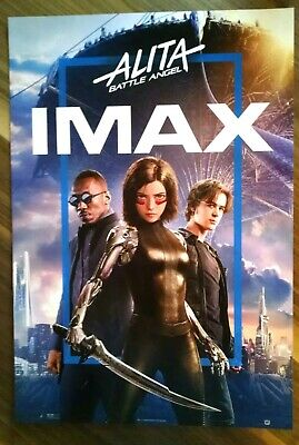 "ALITA BATTLE ANGEL Official Movie 13"" x 19"" PREMIERE NIGHT IMAX Promo Poster"