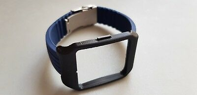 Sony SmartWatch 3 SWR50 Black Adapter & Blue Silicone Strap with Clasp