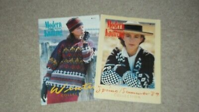 "TWO ""MODERN MACHINE"" KNITTING MAGAZINES for Knitmaster/Silver Reed Machines"