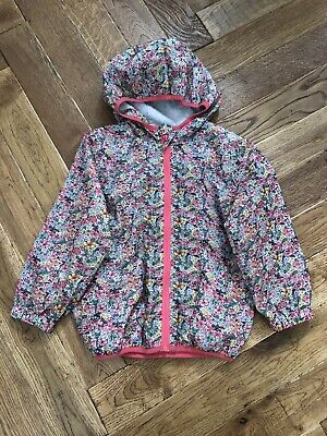 NEXT Girls Floral Print Pack A Mac Hooded Rain Jacket / Coat Age 4-5 Years