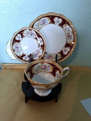 Royal Albert Lady Hamilton  Vintage Snack/tennis Set.1939