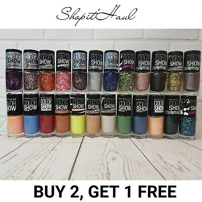 Authentic Maybelline New York Color Show Nail Polish - Wide Choice Of Colours