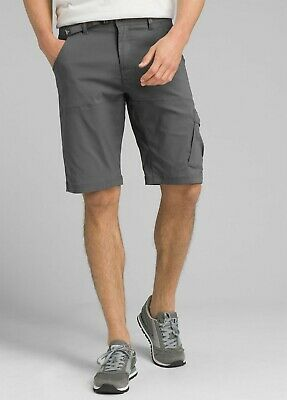 "prAna Men's Stretch Zion Shorts - 31"" Waist 10"" Length Charcoal colour"