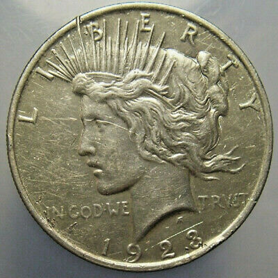 1923 $1 Peace Dollar Silver US Circulated Nicer Details Collectible Coin