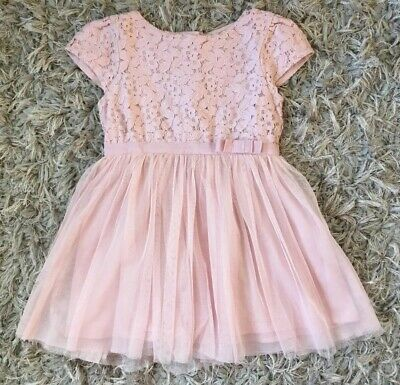 Next Baby Girls Dusky Pink Lace & Netted Skirt Summer Party Dress 12-18 Months
