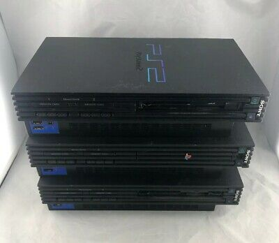 Lot of 3 Sony PlayStation 2 PS2 Fat Console Only Parts/Repair They all power on.