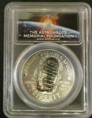 2019-P Proof $1 Silver Apollo 11 50th Anniversary PCGS PR70DCAM FS AMF