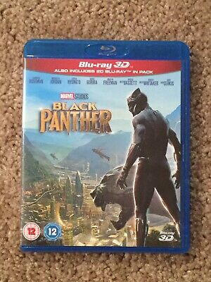 2018 Marvel Studios Black Panther Blu Ray - Region Free Disc, No 3D