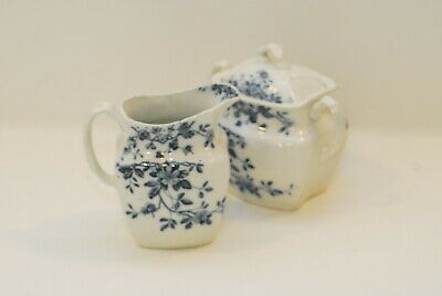 Grindley & Co Mersey Flow Blue Creamer & Sugar Set
