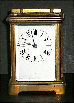 Antique French Brass Carriage Clock in Full Working Order