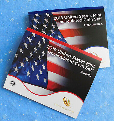 2018 Uncirculated Coin Set 18RJ SEALED in brown box. With FREE shipping!