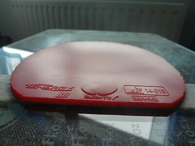 used table tennis rubber BUTTERFLY TENERGY 80   W151mm x H157mm
