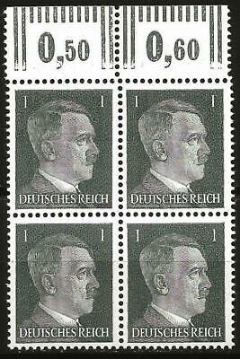 Germany Third Reich 1941 MNH - Hitler Definitive 1 Pf Block of 4 Mi: 781 SG: 769
