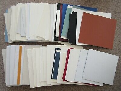 100 Offcut Pieces of Mountboard for Art Craft DIY Mounts - Mixed Colours & Sizes