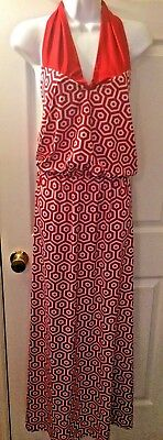 NWT Mud Pie Womens Leighton Strapless Maxi Dress Burgundy Red Black S M L