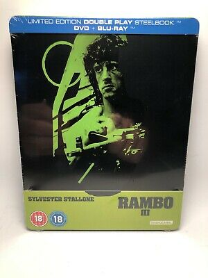 Rambo 3 (III) STEELBOOK (Blu-ray, UK Import) SEALED BRAND NEW ZAVVI EDITION