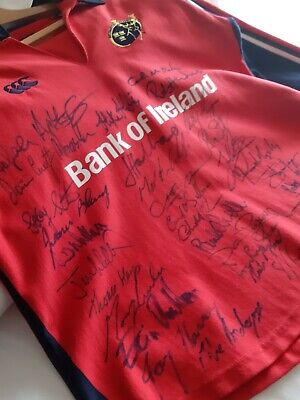 Signed Munster Rugby Jersey Circa 2008 Heiniken Cup Winners