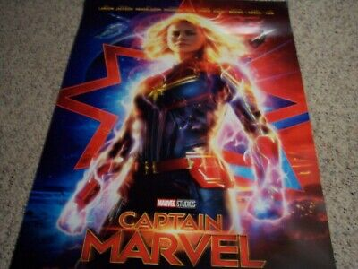 Captain Marvel Original Movie Poster Double-Sided 27 x 40