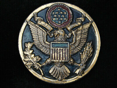 RC07105 VINTAGE 1970s **SEAL OF THE UNITED STATES OF AMERICA** PATRIOTIC BUCKLE