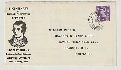 Stamps 1959 Scotland Robert Burns Birthday Souvenir Cover Postal History