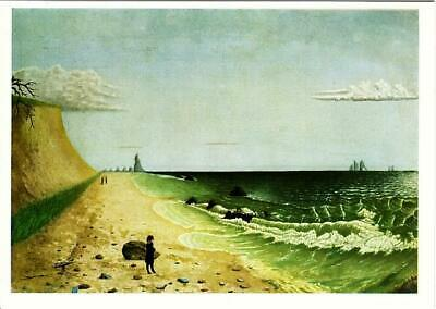 Meditation by the Sea by Unknown American Art Postcard