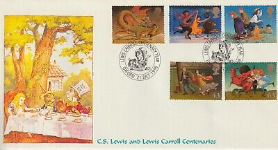 Stamps 1998 Lewis Carroll Mad Hatter Heyden First Day Cover Postal History