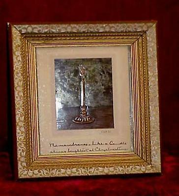 Mission Era Arts & Crafts Christmas Candle Hammered Copper Color Picture Signed