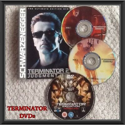 Terminator Salvation & T2 Judgment Day the ultimate DVD 3 disc bundle job lot no