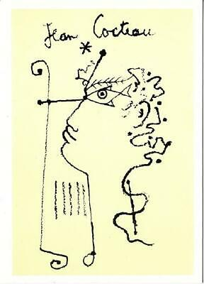 Orpheus with a Lyre by Jean Cocteau Art Postcard