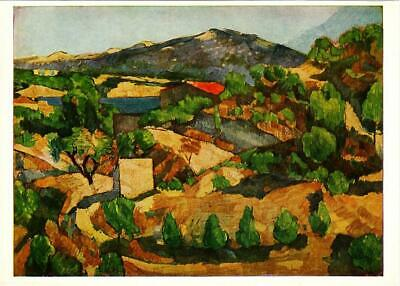 Montagnes L'Estaque by Paul Cezanne Art Postcard