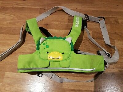 Trunki ToddlePak Baby Toddler Reins Harness Green Dudley Dino - Excellent Cond.