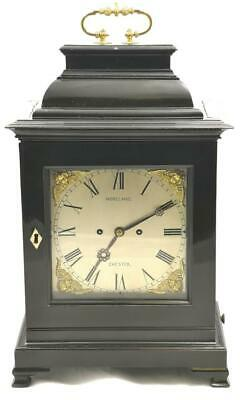 Top Quality Antique English Ebonised Twin Fusee Striking Mantle Bracket Clock