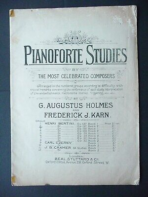 Pianoforte Studies - Vintage 15 Piece Tutorial Book for Piano /  Keyboard