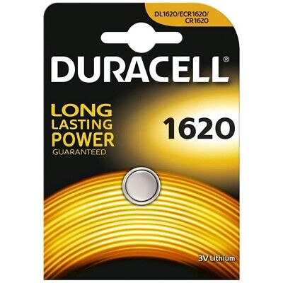 1x Duracell CR1620 Coin Cell Battery 3V Lithium DL1620 BR1620 LONGEST EXPIRY