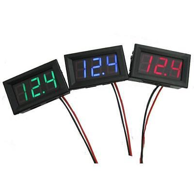 DC 30V 2Wire LED Digital Display Panel Volt Meter Voltage Voltmeter Car Motor UK