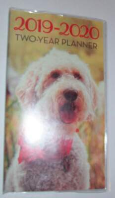 2019-2020 TWO YEAR~FLUFFY PUPPY DOG SCARF~Pocket Purse Planner Calendar Nature