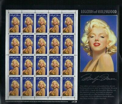 """Us #2967 """"legends Of Hollywood-Marilyn Monroe- 20 32 Cent Stamps Mint Nh"""
