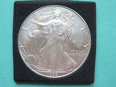 1999 Silver American Eagle 1Troy oz. Uncirculated Low mintage