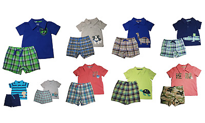 *nwt- Carter's - Baby Boy's 2-Pc Polo Short Outfit Set -  Size: 0-3M - 24M