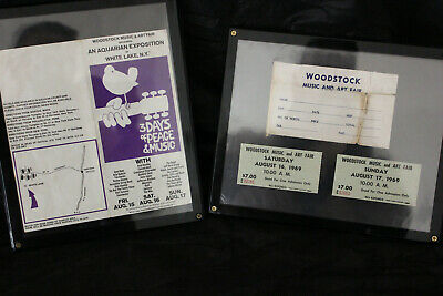 1969 Woodstock Music Festival Ticket Order Form and ticket stubs RARE RARE RARE