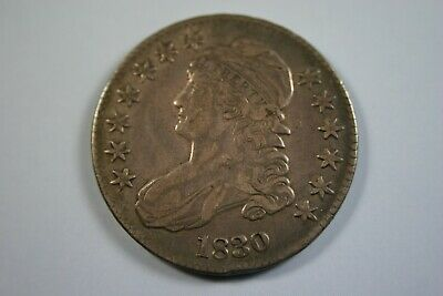 1830 capped bust half dollar O-117 original dark toning no hairlines