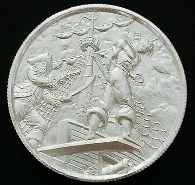 ELEMETAL 2oz .999 SILVER ROUND HIGH RELIEF THE PLANK PRIVATEER COLLECTABLE COIN