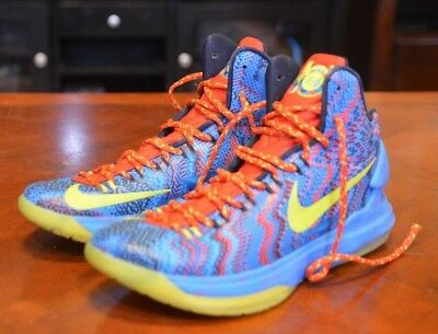 premium selection 337d4 417d6 Nike Zoom KEVIN DURANT KD V 5 CHRISTMAS BLUE ATOMIC GREEN RED 554988-401 SZ