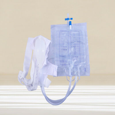 1pcs Urinary Drainage Bag 2000ml Urinal Bag with Anti Reflux Valve for Patients